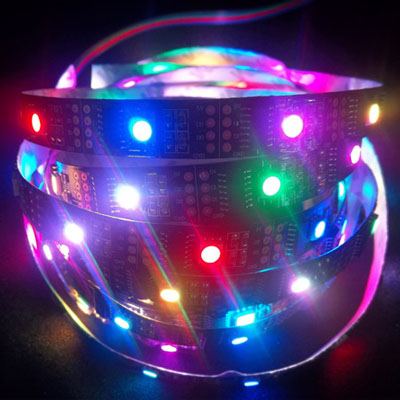 individual control ws2801 full color led strip
