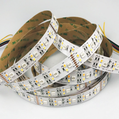 24V 5050RGBY+2835WW+2835W Dimmable LED Strip