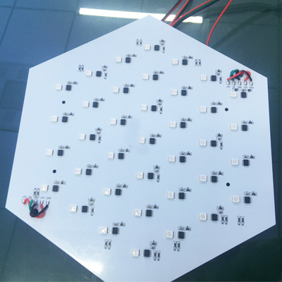 addressable hexagon led panel
