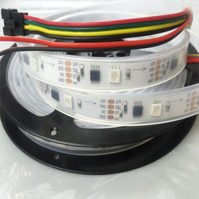 12V Double Data GS8208 LED Strip IP67 silicone tube